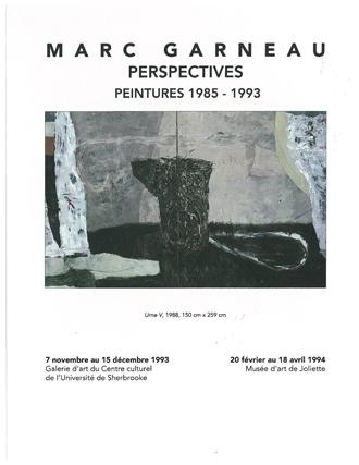 Marc Garneau.Perspectives : peintures 1985-1993