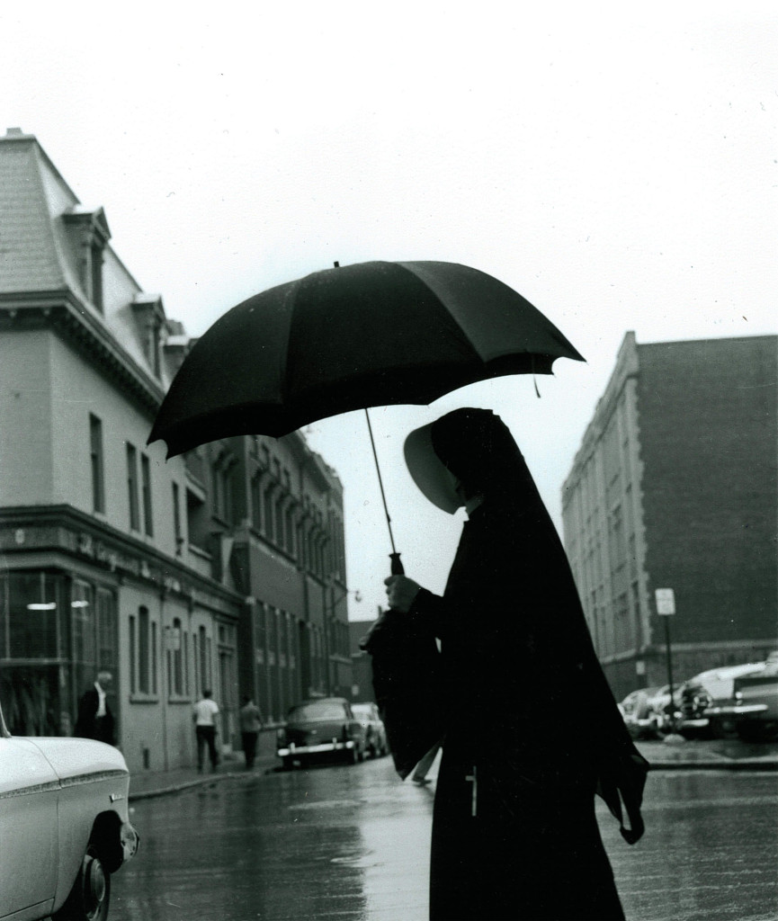 Nun with Umbrella, Montreal