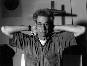 Gabor Szilasi in Andrea Szilasi's studio, Montreal 2003. Photo: Andrea Szilasi.