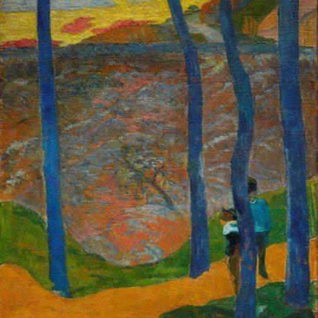 Paul Gauguin, Les arbres bleus. Vous y passerez, la belle! (1888). Photo :Anders Sune Berg