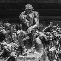 Auguste Rodin, Divino inferno (détail).