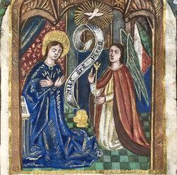 Livre d'heures à l'usage de Rouen, 15e siècle. Prêt de l'honorable Serge Joyal.