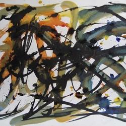 Jean-Paul Jérôme (1969). Sans titre (66 x 101,6 cm : encre sur papier Manille).