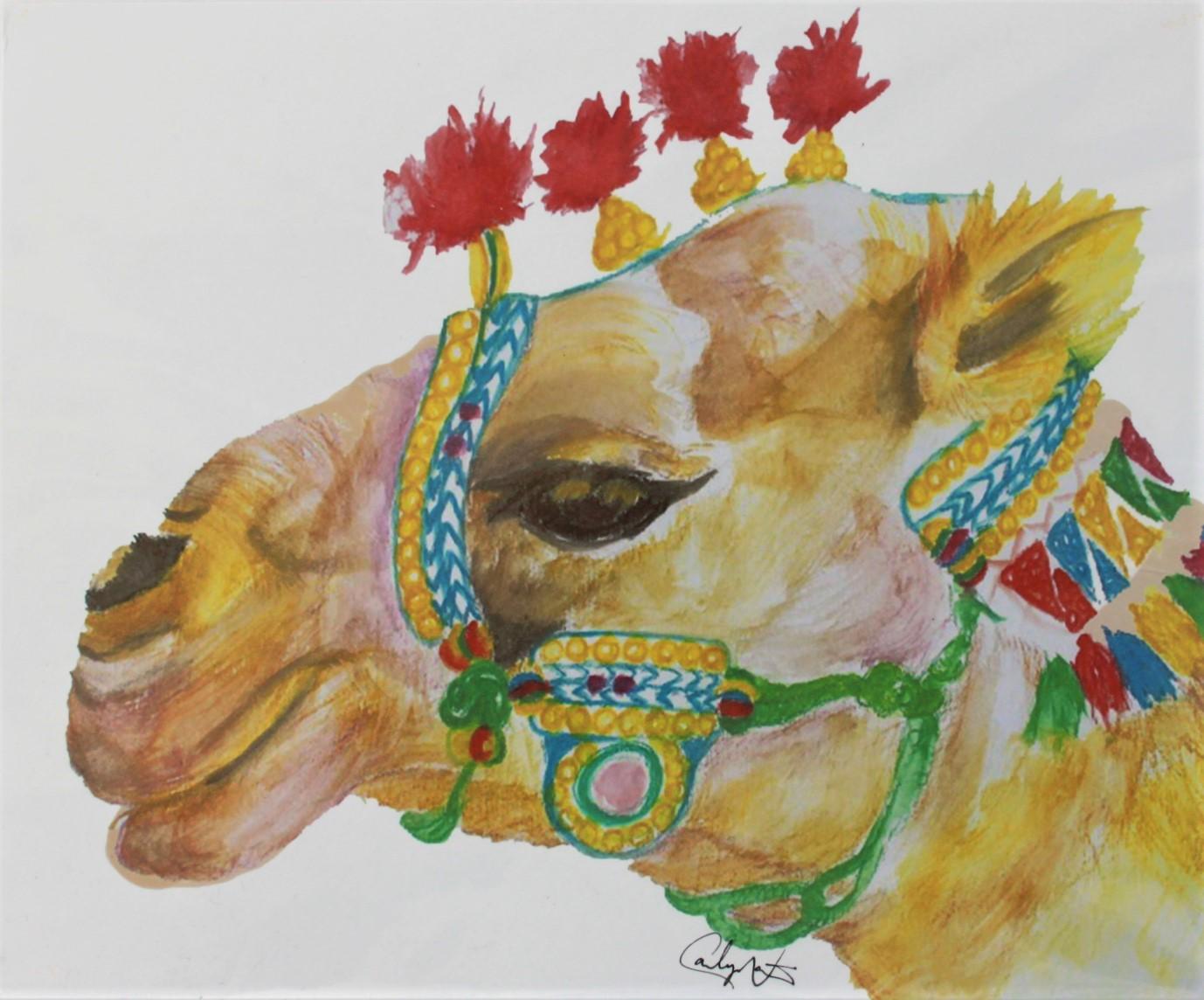 Affiche chameau Cactus Béton